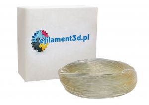 Filament PET 1,75 mm BEZBARWNY - TRANSPARENTNY 100 g