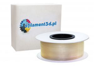 Filament PET 1,75 mm BEZBARWNY - TRANSPARENTNY 0,5 kg